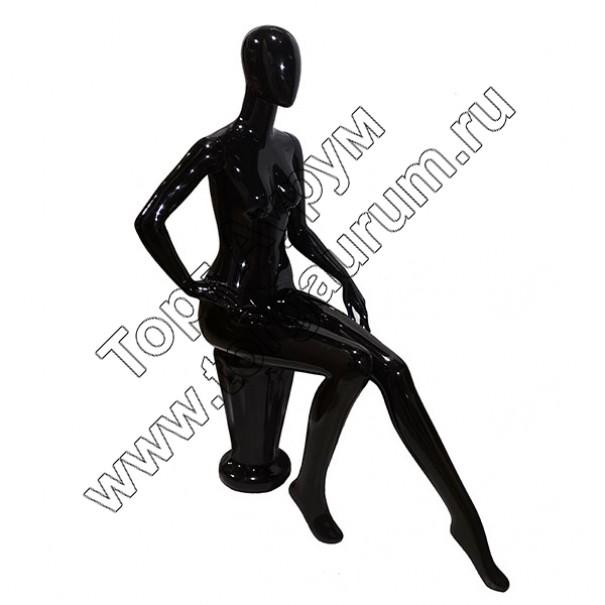 WSP1-B Манекен женский, безликий (сидячий)