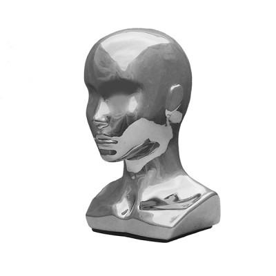 Г-299/A Голова женская с плечами. Цвет: Хром