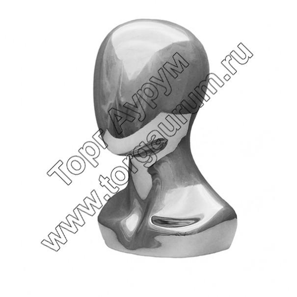 Г-308/A Голова безликая с плечами. Цвет: Хром