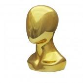 Г-308/G Голова безликая с плечами. Цвет: Золото