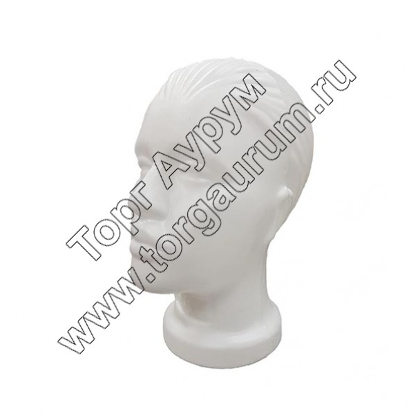 Г-201w Голова женская. Цвет: Белый