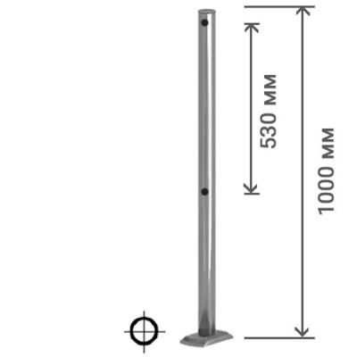 Столбик универсальный (для крепления муфт с 3-х сторон)