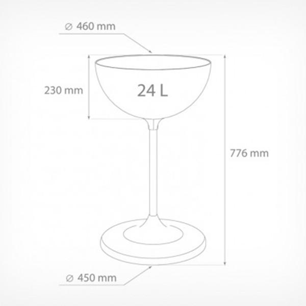 UNIBOWL Дисплей-чаша на стойке 24литра