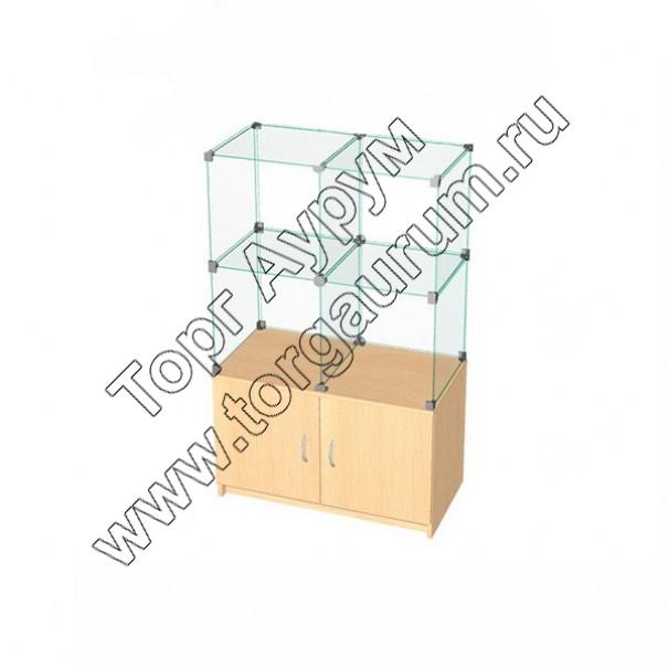 ВК.Т-02 Витрина куб с тумбой