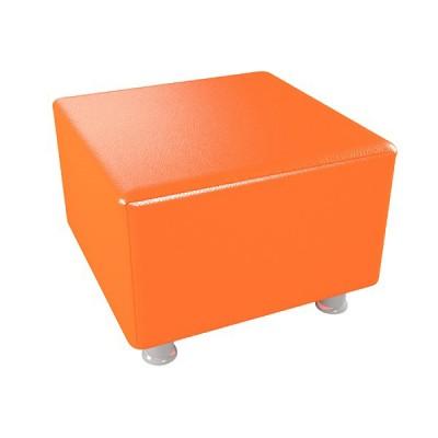 """ПФ-101 Банкетка """"Куб"""" на ножках. Цвет: Оранжевый"""