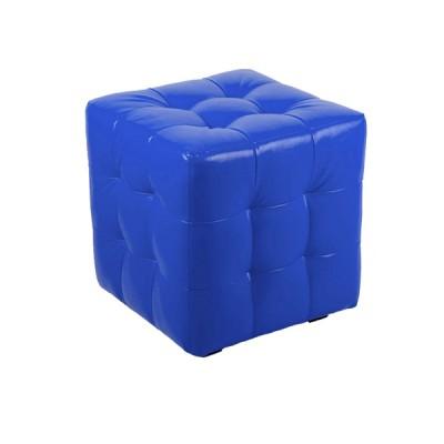"""ПЛ-01 Банкетка """"Куб-прошитый"""" Цвет: Синий"""