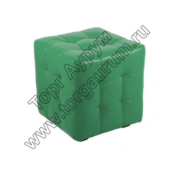 """ПЛ-01 Банкетка """"Куб-прошитый"""" Цвет: Зелёный"""