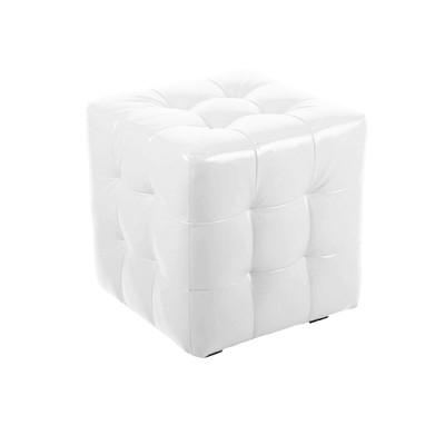 """ПЛ-01 Банкетка """"Куб-прошитый"""" Цвет: Белый"""