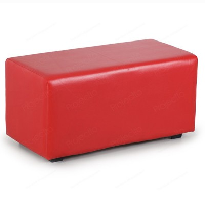 """ПФ-02 Банкетка """"Прямоугольник"""" Цвет: Красный"""