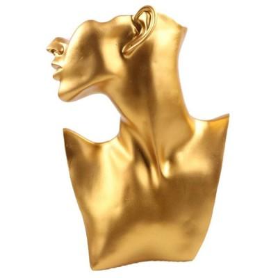 Пластиковая шея с головой. Цвет: Золото