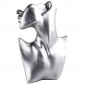 Пластиковая шея с головой. Цвет: Серебро